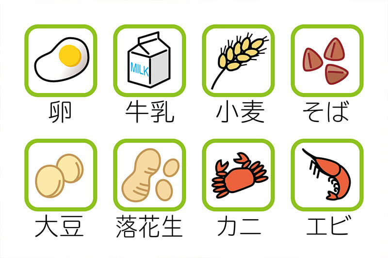 食物アレルギーについて